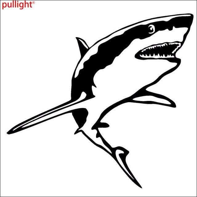 gambar lucu ikan terkeren 15 2 14 2 cm besar hiu putih vinyl decal lucu hewan