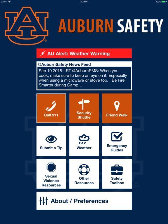 screenshot 1 for auburn safety
