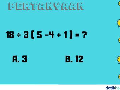 teka teki matematika ini butuh ketelitian bisa jawab semuanya