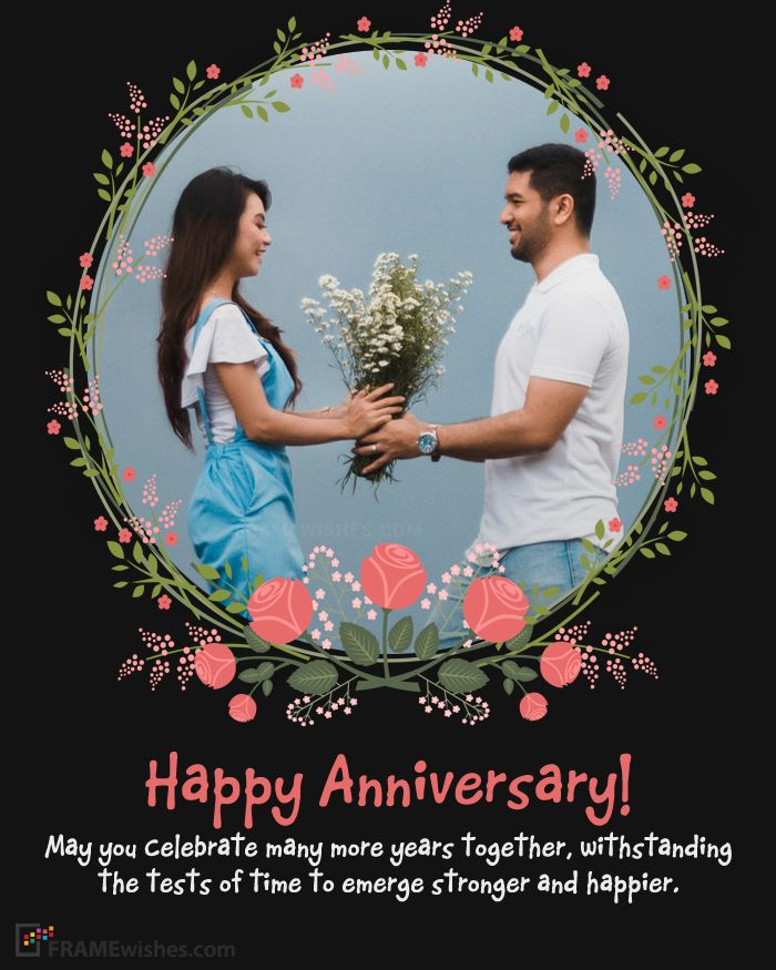 online wedding anniversary photo frames editing