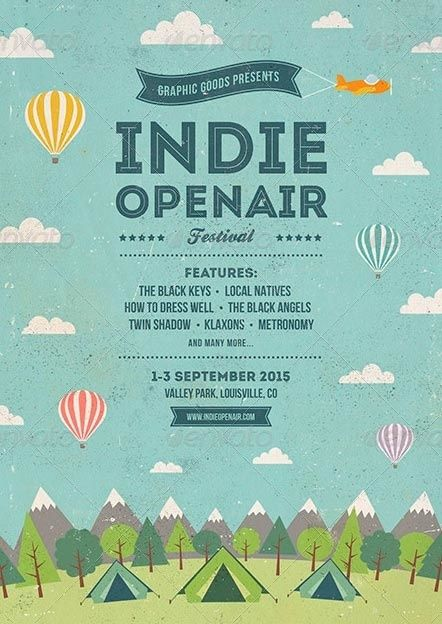 Festival Poster Menarik Best Poster Indie Open Air Festival Flyer Images On Designspiration