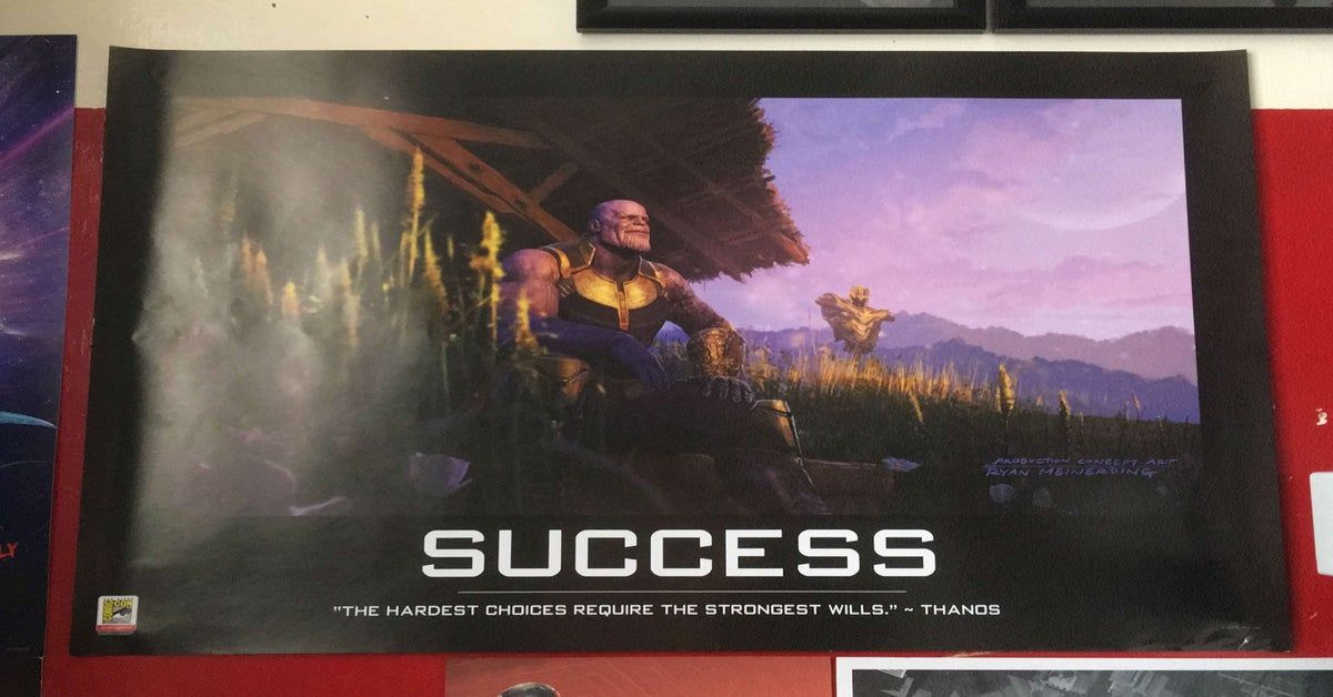 my thanos sdcc poster finally arrived today marvelstudios