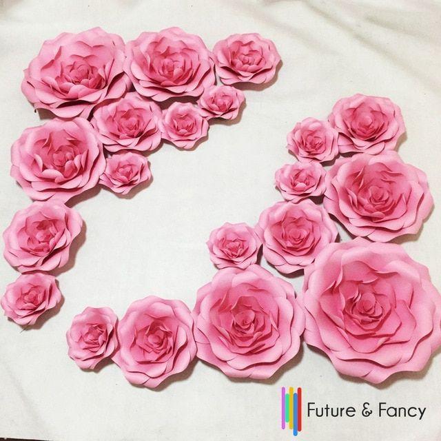 20 pcs set kombinasi cardboard giant kertas bunga bunga dinding pernikahan dinding busur kertas bunga