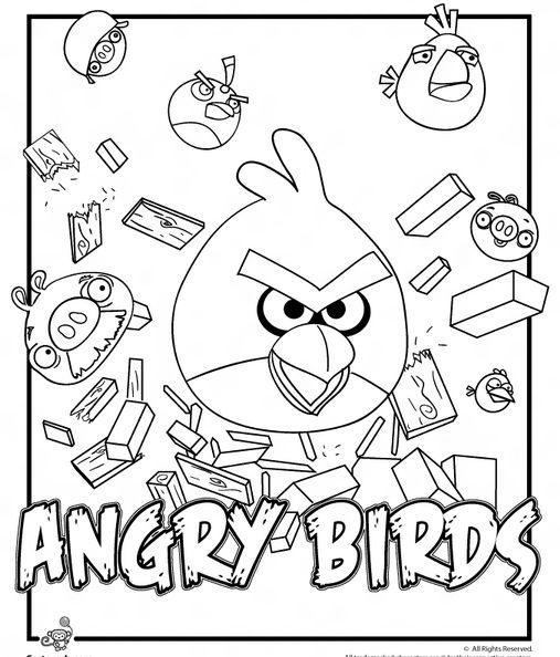 angry birds gambar mewarna colouring picture