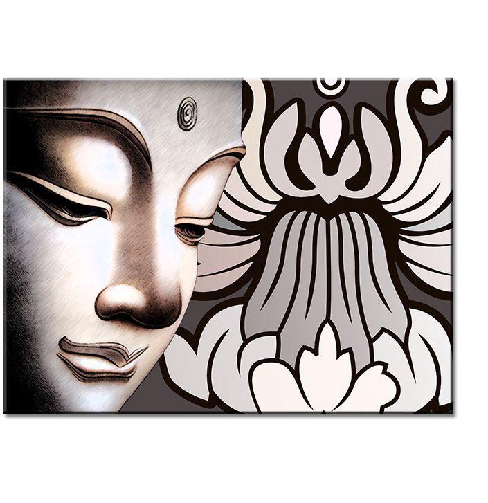 lukisan 3d diatas kertas power a 100 hd buddha seni dinding lukisan cetak di atas kanvas