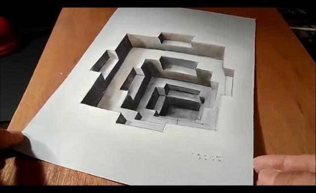 gambar 3 dimensi 11 gambar 3d dengan media kertas