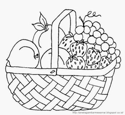 aneka gambar mewarnai gambar mewarnai buah buahan dalam