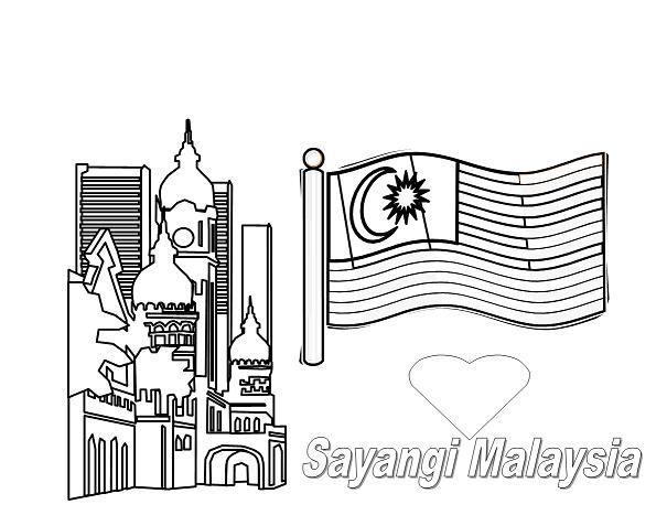 Gambar Mewarna Kemerdekaan Terbaik Himpunan Terbesar Gambar Mewarna Hari Merdeka Yang Terhebat Dan