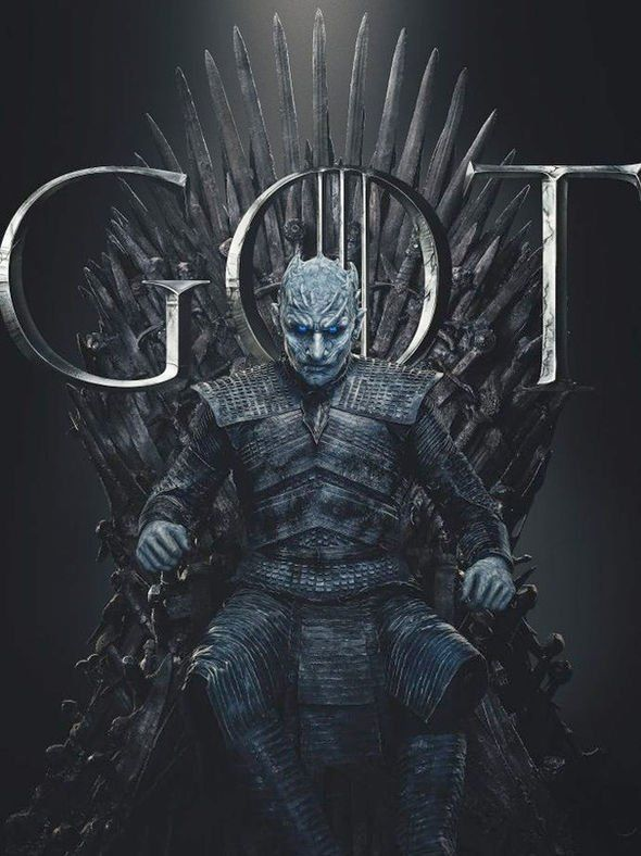 game of thrones season 8 posters show the night king on the iron throne