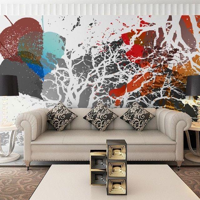 dekorasi rumah dinding kertas 3d modern seni grafiti wallpaper foto lukisan dinding ruang tamu kamar tidur