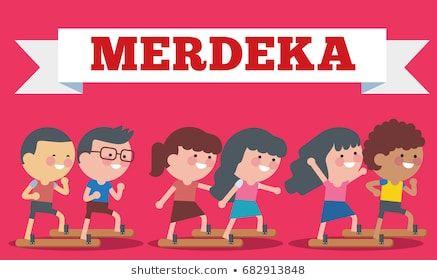 stock vector of illustration on hari merdeka independence day of indonesia flat illustration style