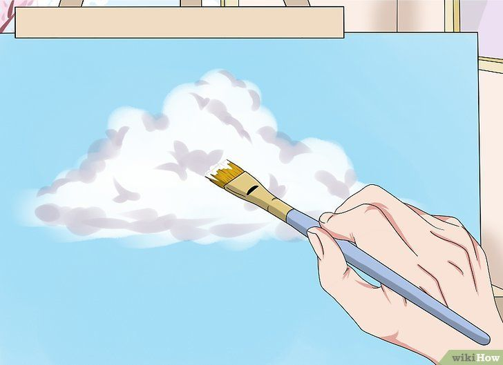Kertas Kerja Lukisan Mural Baik 3 Cara Untuk Melukis Awan Wikihow