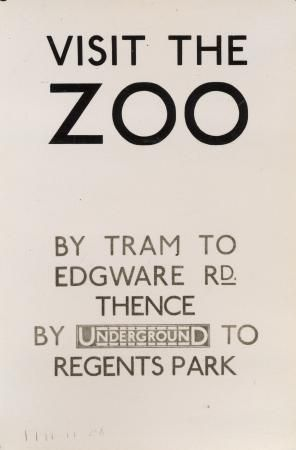 bw print of poster visit the zoo 1928