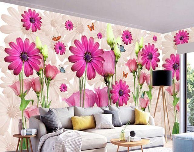 lukisan 3 dimensi sederhana di kertas power aliexpress com beli modern sederhana bunga kustom 3d foto