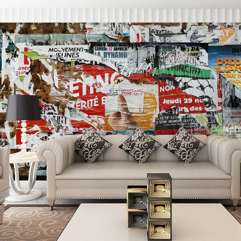 Lukisan 3d Kertas Meletup Modern Graffiti Photo Wallpaper Lukisan Dinding Dekorasi Rumah