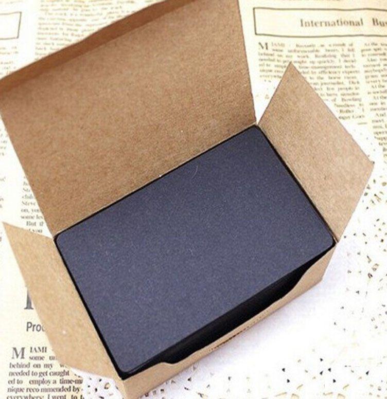 500pcs message kartu kata diy kartu hadiah mendukung partai partai deco diy kosong kartu hitam kertas