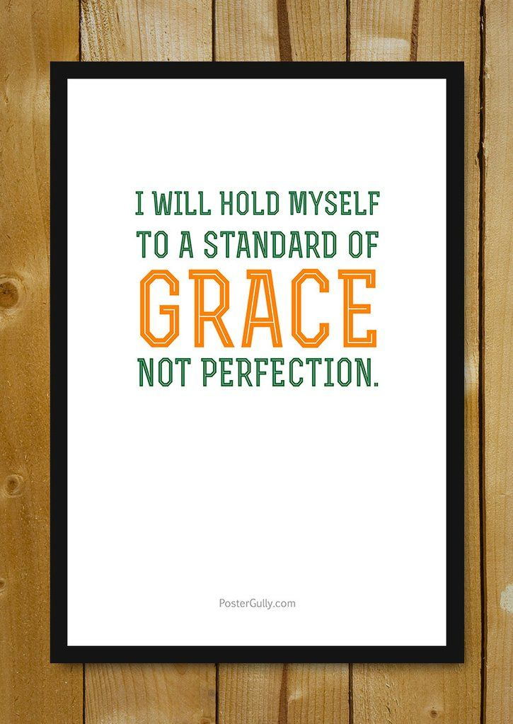 buy framed posters online shopping india grace not perfection glass framed poster postergully