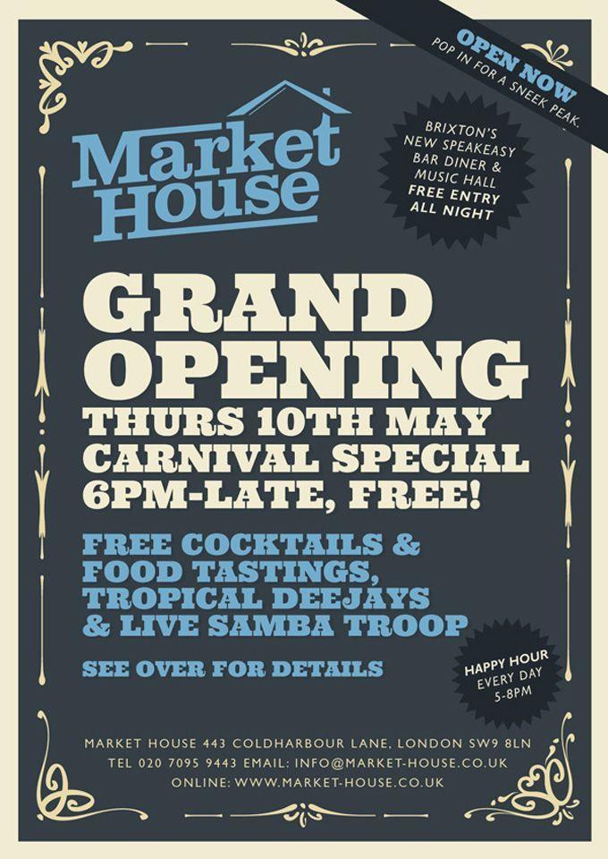 grand opening flyers market flyer work stuff ideas
