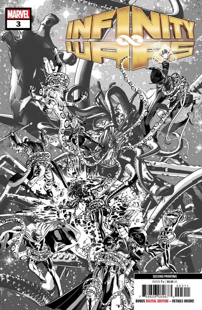 Marvel Poster Baik Infinity Wars 3 Of 6 2nd Ptg Deodato Var Ebay