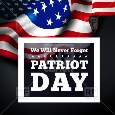 poster of patriot day with inscription vector image vector illustration of holiday a c sermax55