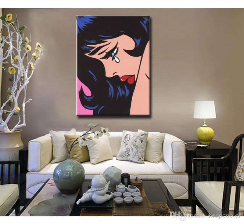 100 hand painted pop art beautiful girl oil paintings on canvas