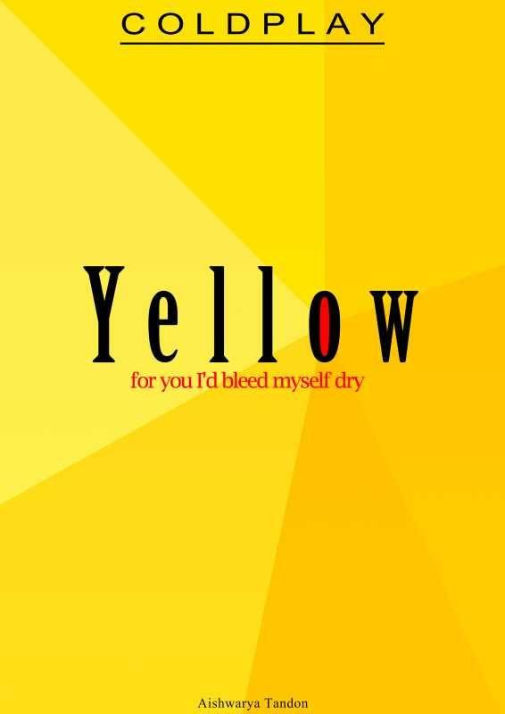 india s largest online art gallery yellow coldplay artwork artist aishwarya tandon postergully
