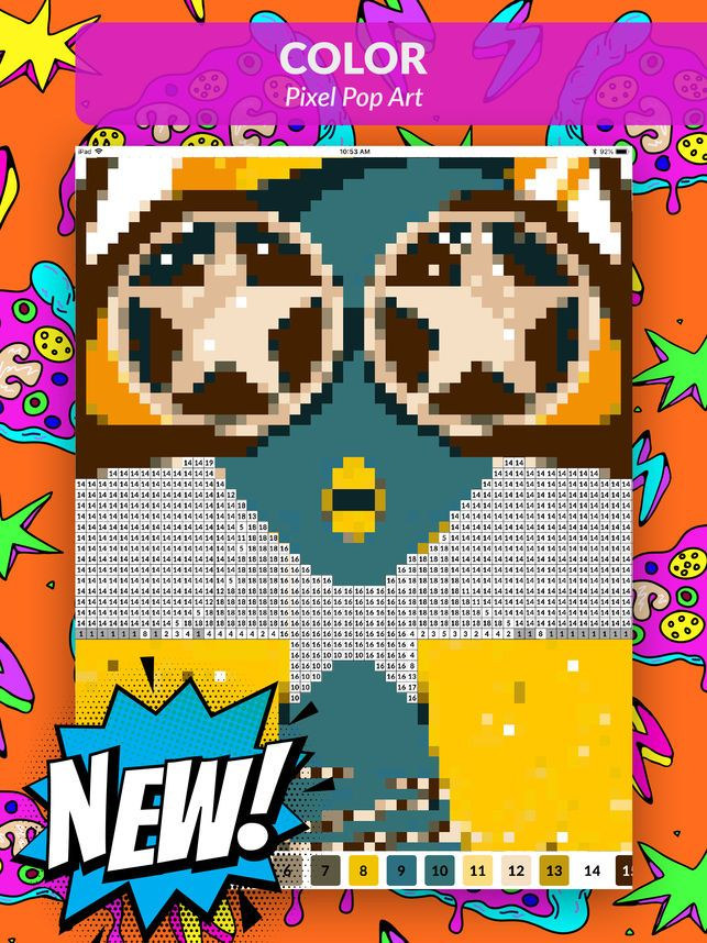pop art pixel coloring game on the app store