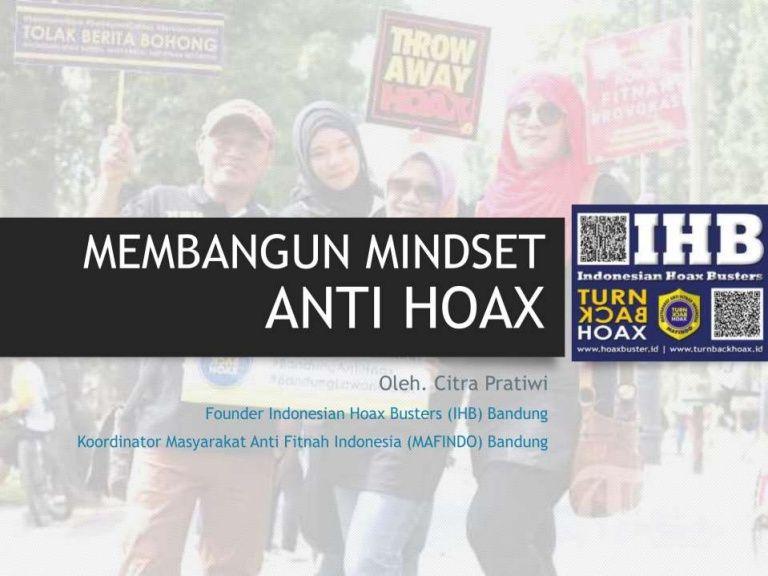 Poster Anti Hoax Menarik Membangun Mindset Anti Hoax