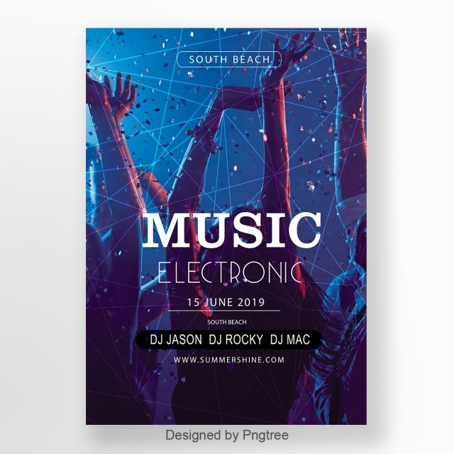 peringkat gradien psychedelic elektronik kempen poster templat