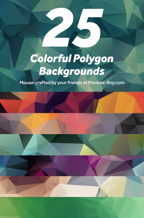 25 free colorful polygon backgrounds resources design backgrounds
