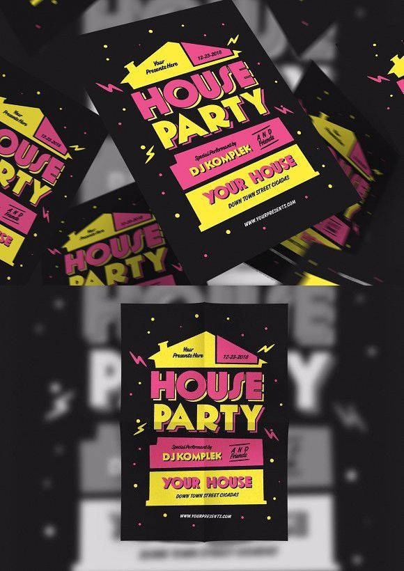 house party free lovely party flyer background free club flyers poster templates 0d