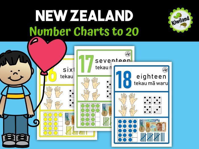 new zealand themed number posters 1 20 word ten frame tally marks