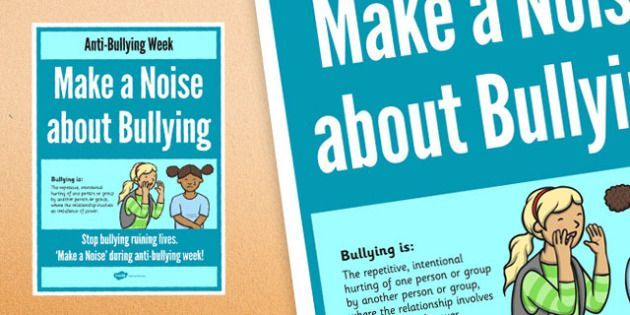 anti bullying week make a noise about bullying poster anti bullying