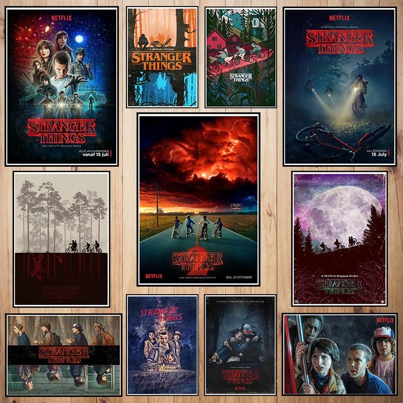 stranger thing coated paper poster cafe creative wallpaper interior decoration quotes stickers for walls quotes wall stickers from greenliv 35 18 dhgate