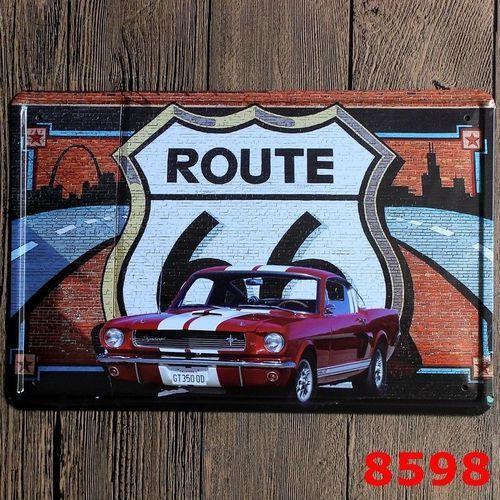 vova metal tin sign american route 66 bar pub home vintage retro poster cafe art