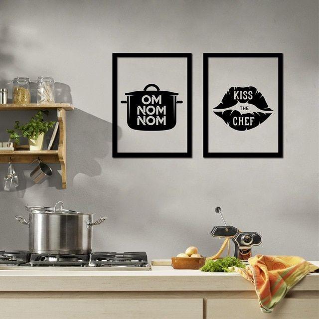 lucu dapur rumah dekorasi saya suka memasak kanvas poster desain kreatif dapur dinding seni lukisan