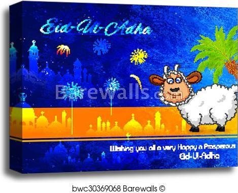 eid ul adha happy bakra id background canvas print