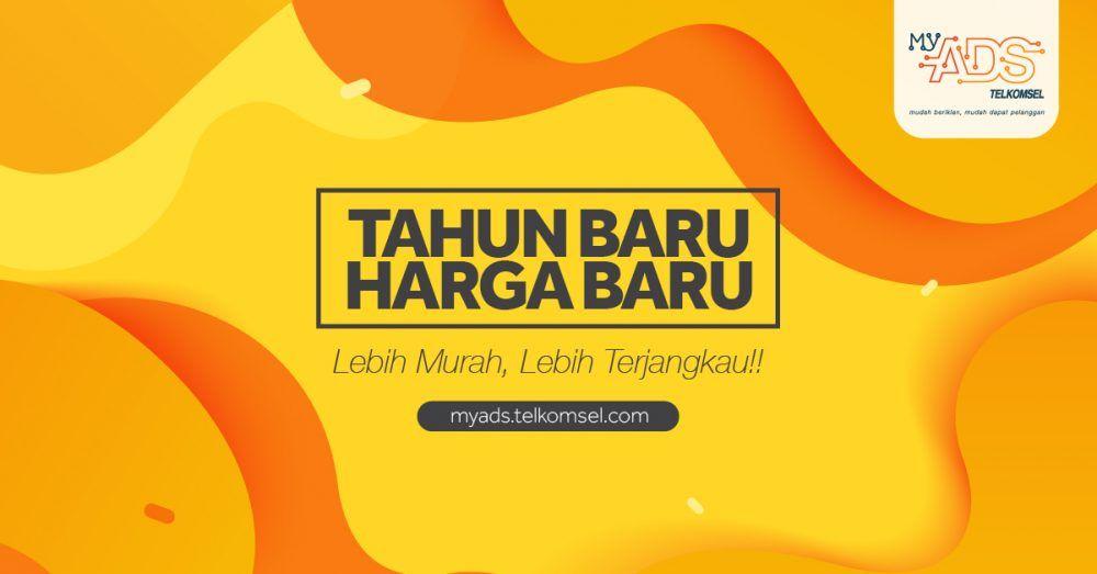 Poster Iklan Layanan Masyarakat Bermanfaat Harga Baru Telkomsel Myads Telkomsel Digiads