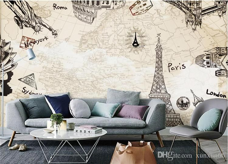 vintage paris wall mural photo wallpaper giant wall decor poster free paste wallpaper accessories home