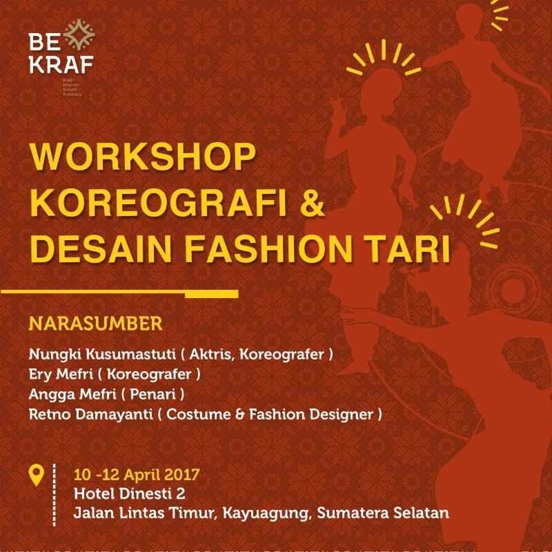 Poster Infografis Menarik Workshop Koreografi Desain Fashion Tari Ogan Komering Ilir