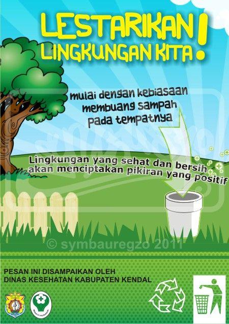 Senarai Poster Kebersihan Lingkungan Lucu Yang Power Dan