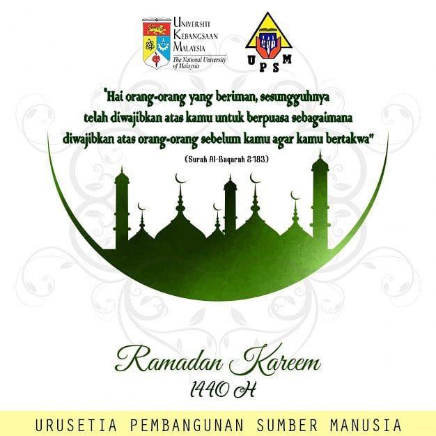 selamat menyambut bulan ramadhan kepada seluruh umat islam jadikan ramadhan tahun ini lebih baik daripada tahun lepas jangan lupa niat puasa upsmukm
