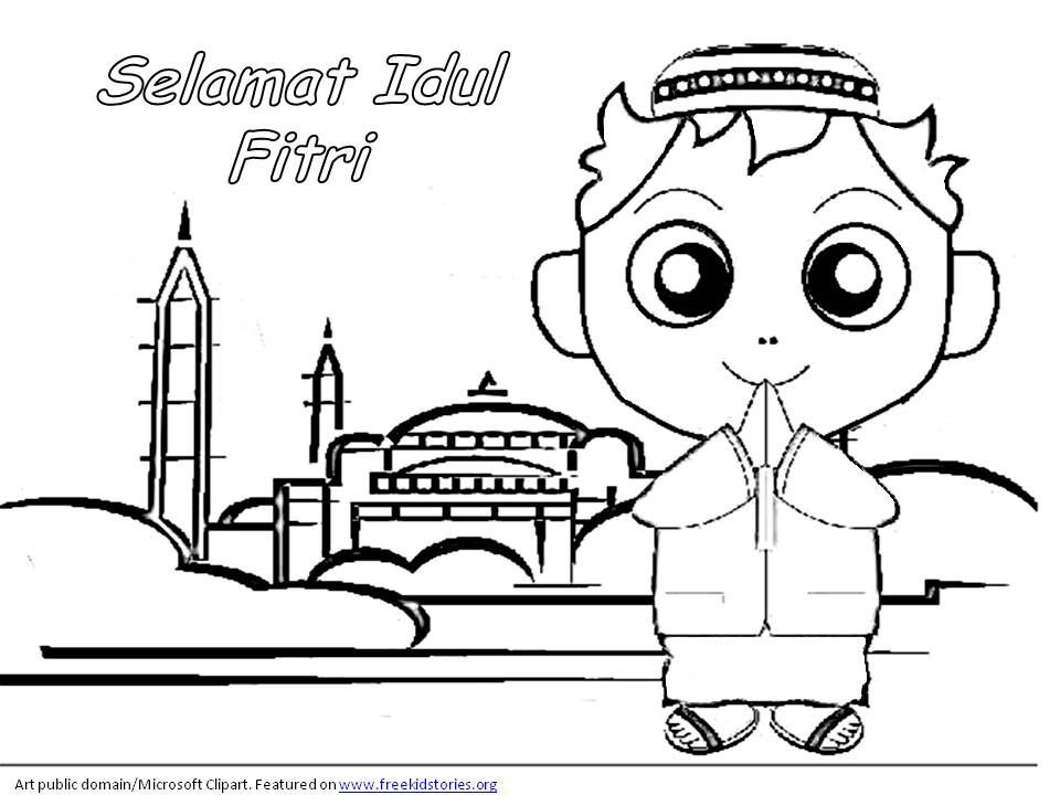 poster mewarna ketupat bermanfaat edisi special mewarnai gambar tema lebaran idul fitri