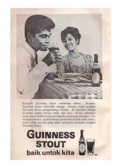 guiness stout ad in malaysia during the 60 s malaysian food classic image beer poster
