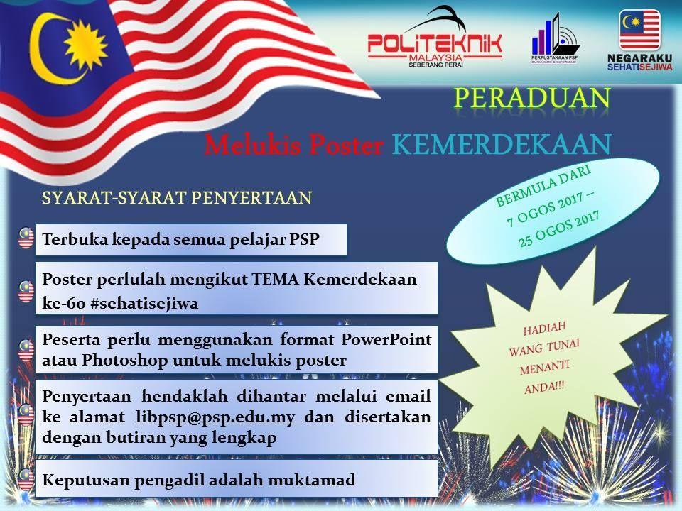poster negaraku sehati sejiwa menarik national day poster competition