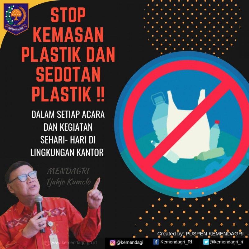 Poster Sampah Berguna Nasional Mendagri Dukung Kampanye Kurangi Sampah Plastik Kbrn