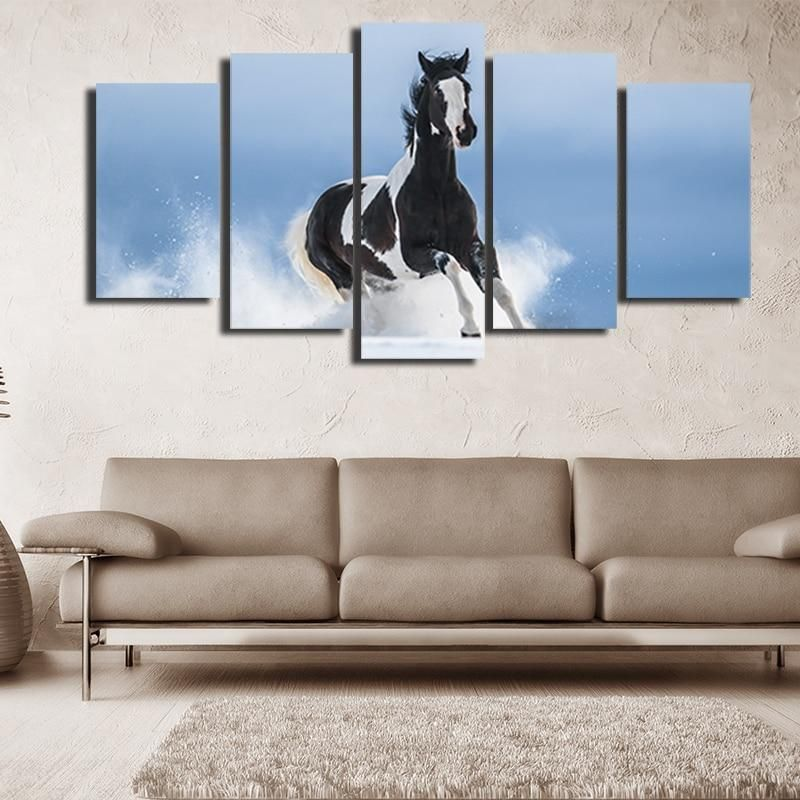 2019 modern modular pictures poster watercolor animal horse landscape canvas painting hd print home living room decor wall art from zhu793737893