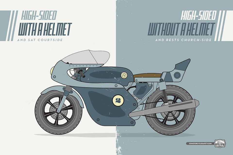 motorcycle safety poster campaign