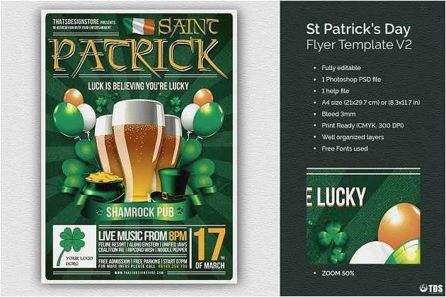 free collection st patrick day flyer template free best poster templates 0d model free flyer design