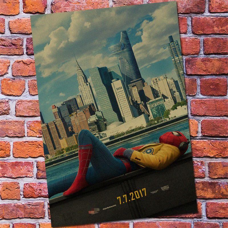 Spiderman Homecoming Poster Terbaik Baru Vintage Spiderman Homecoming Superhero Poster Bar Anak Anak